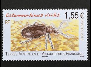 Französische Gebiete in der Antarktis TAAF 2018 Nr. 1004 Käfer Insekten Fauna