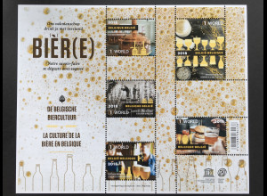 Belgien 2018 Block 221 Belgisch Bierkultur Bierbrauen Bierverkostung Biertrinken