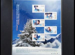 Kanada Canada 2018 Block 273 Frauen im Wintersport Skirennen Langlauf Eislauf