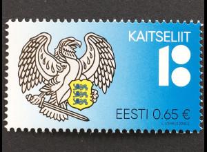Estland EESTI 2018 Nr. 912 100 Jahre estnischer Verteidigungsbund Kaitseliit