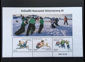 Grönland 2018 Block 85 Sportarten und Wettkämpfe Weitsprung Ringen Tauziehen