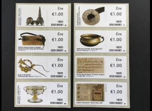 Irland 2018 Nr. 93-100 Automatenmarken 100 Objekte Antiquitäten Kunstgegenstände