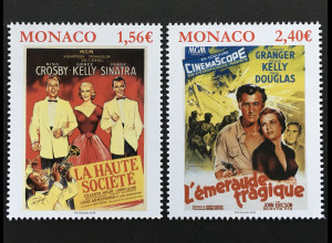 Monako Monaco 2018 Michel Nr 3376-77 Filme mit Grace Kelly Kino Hollywood