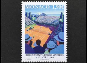 Monako Monaco 2018 Michel Nr 3379 Tennisturnier Monte-Carlo Rolex Masters