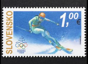 Slowakei Slovakia 2017 Nr. 836 Olympische Winterspiele, Pyeongchang Skisport