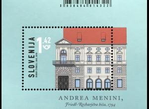 Slowenien Slovenia 2018 Block 104 Architektur Andrea Menini Friedl-Rechar-Haus