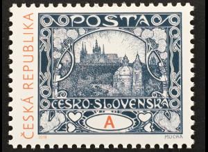 Tschechische Republik 2018 Nr. 961 Grußmarke: 100 Jahre Hradschin-Freimarken