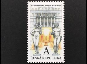 Tschechische Republik 2018 Nr. 959 Technische Denkmäler Stadtbibliothek in Prag