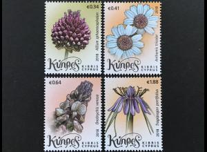 Zypern griechisch Cyprus 2018 Michel Nr. 1384-87 Wildblumen Flora Natur