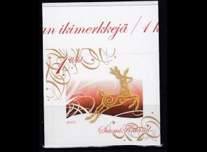 Finnland 2009 Michel Nr. 1999 Briefmarke selbstklebend Meine Marke Rentier