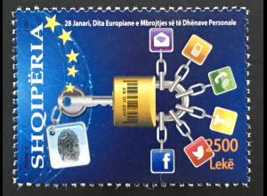 Albanien 2017 Nr. 3575 Europäischer Tag des Datenschutzes