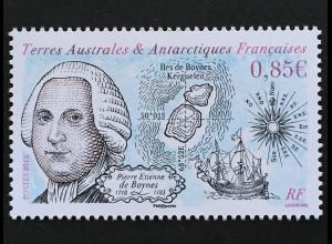 Franz. Antarktis TAAF 2018 Nr. 996 Pierre de Boynes Segelschiff Staatsmann