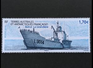 Franz. Antarktis TAAF 2018 Nr. 1005 Schiff Batral la Grandiere Marine