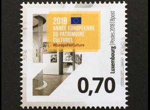 Luxemburg 2018 Nr. 2162 Europäisches Jahr des Kulturerbes Motto Sharing Heritage