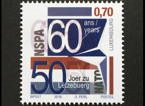 Luxemburg 2018 Nr. 2161 60 Jahre NATO Support and Procurement Agency (NSPA)