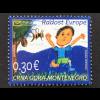 Montenegro 2017 Neuheit Freude Europas Kinderzeichnung Springendes Kind