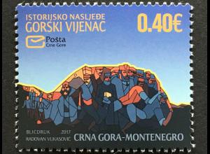 Montenegro 2017 Michel Nr. 411 Tag der Marke Moderne Kunst