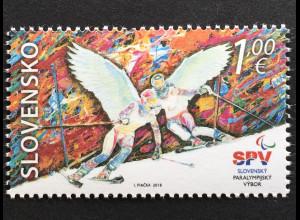 Slowakei Slovakia 2018 Nr. 836 Olympische Winterspiele Pyeongchang Skisport