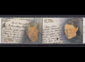 Finnland 2008 Michel Nr. 1914-15 Europa Der Brief Pekka Halonen