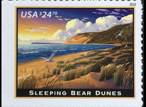 USA Amerika 2018 Nr. 5462 Eilpostmarke Sleeping Bear Dunes Michigan-See