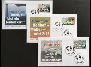 Bund BRD Ersttagsbrief FDC Nr. 3380-82 3. Mai 2018 Sporthilfe Fußballspiele