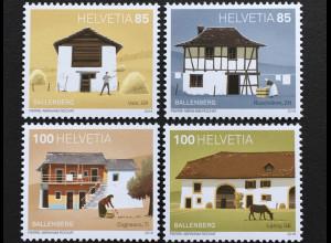 Schweiz 2018 Michel Nr 2544-47 50 Jahre Stiftung Freilichtmuseum Ballenberg
