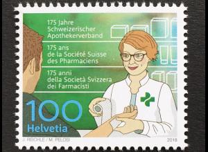 Schweiz 2018 Michel Nr 2548 175 Jahre Schweizerischer Apothekerverband