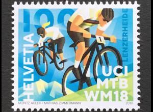 Schweiz 2018 Michel Nr 2550 Mountainbike-Weltmeisterschaften, Lenzerheide