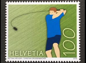 Schweiz 2018 Michel Nr 2543 Traditionelle Sportarten Hornussen Brauchtum