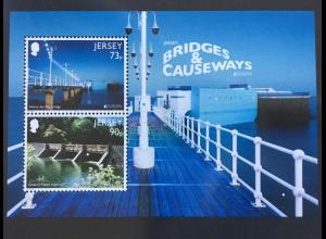 Jersey 2018 Block 168 Europaausgabe Brücken Bridges and Causeways Seebrücken