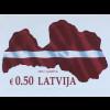 Lettland Latvia 2018 Nr. 1042 Landkarte Flagge Lettlands rot weiß