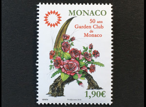 Monako Monaco 2018 Michel Nr 3388 50 Jahre Garden Club de Monaco Garden Flora