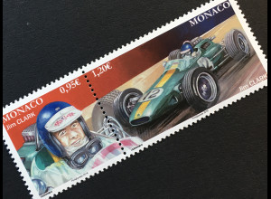 Monako Monaco 2018 Michel Nr 3381-82 Bedeutende Formel-1-Rennfahrer in Monaco