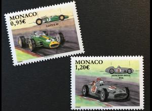 Monako Monaco 2018 Michel Nr 3383-84 Legendäre Formel-1-Rennwagen Motorsport