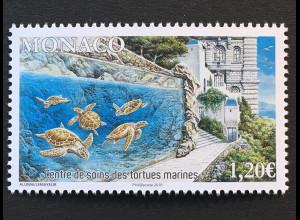 Monako Monaco 2018 Michel Nr 3387 Pflegezentrum für Meeresschildkröte Tierschutz