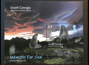 Süd Georgien und Südl. Sandwichinseln 2018 Block 30 Robben Meeressäuger