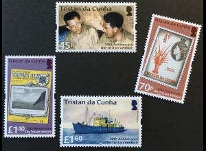 Tristan da Cunha 2018 Michel Nr. 1293-96 70th Anniversary The Tristan Venture