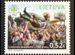 Litauen Lithuania 2018 Nr. 1274 100 Jahre Pfadfinderbewegung Litauen Pfadfinder