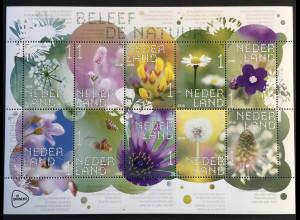 Niederlande 2018 Nr. 3695-3704 Feldblumen Flora Wiesenblumen Holunder Krokus