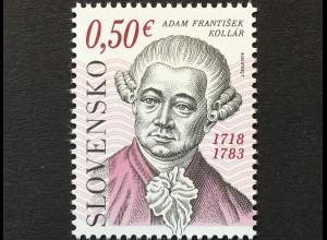 Slowakei Slovakia 2018 Nr. 840 300. Geburtstag von Adam Franti∏ek Kollár