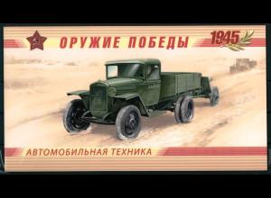 Russland 2012 1801-04 C Markenheft Waffen des Sieges Kraftfahrzeuge