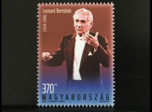Ungarn Hungary 2018 Nr. 5943 100. Geburtstag von Leonard Bernstein Dirigent