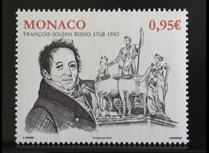 Monako Monaco 2018 Michel Nr 3389 250. Todestag von François-Joseph Bosio