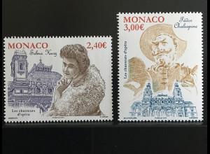 Monako Monaco 2018 Michel Nr 3390-91 Opernsänger Klassische Musik Sopranistin