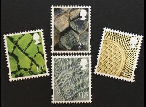 Großbritannien 2018 Regionalmarke Nordirland Michel Nr. 126-29 Landeswahrzeichen