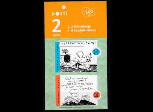 Finnland 2006 Michel Nr. 1812-13 Familienleben Karikaturen von Matti Remes