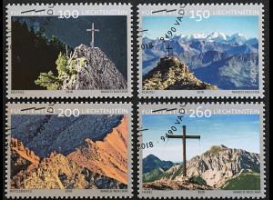 Liechtenstein 2018 Nr. 1902-05 Gipfelkreuze Bergwelt Alpen Bergsteigen Tourismus
