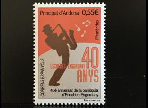 Andorra spanisch 2018 Nr. 464 40 Jahre Escaldes-Engordany Kleinstadt Musikfest