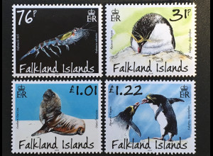 Falkland Inseln 2018 Nr. 1361-64 Räuber Beute Natur Fauna Tiere Jäger Evolution