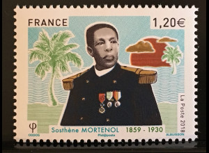 Frankreich France 2018 Nr 6986 Sosthène Mortenol Marineoffizier Schifffahrt